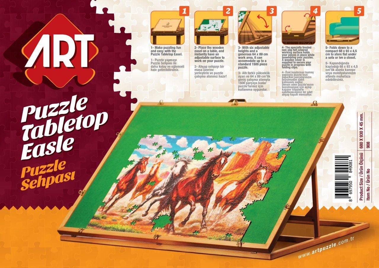 Дървена стойка за подреждане на пъзели Art Puzzle - До 1500 части - 1