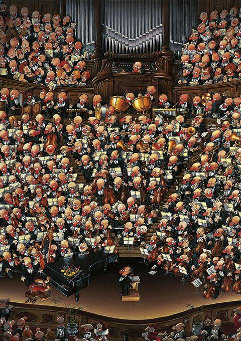 Пъзел Heye от 2000 части - Оркестър, Жан-Жак Луп - 2