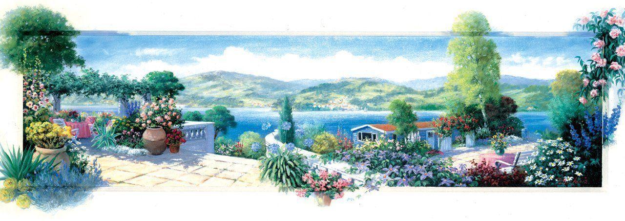 Панорамен пъзел Art Puzzle от 1000 части - Тераса с цветя - 2