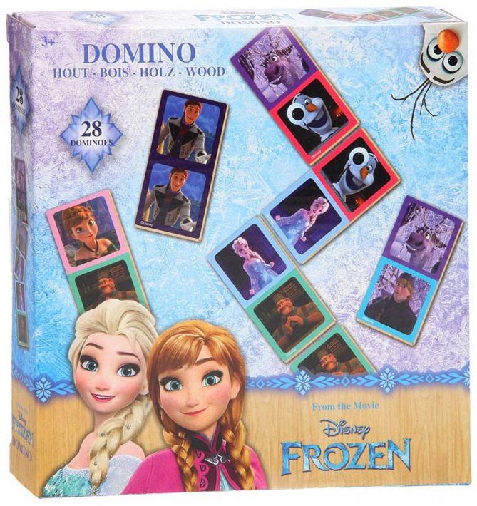 Детска игра Disney Frozen - Картинно домино, 28 части - 1