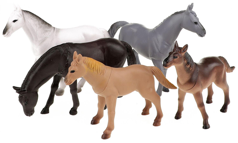 Комплект фигурки Тoi Toys Animal World - Deluxe, Диви коне, 5 броя - 1