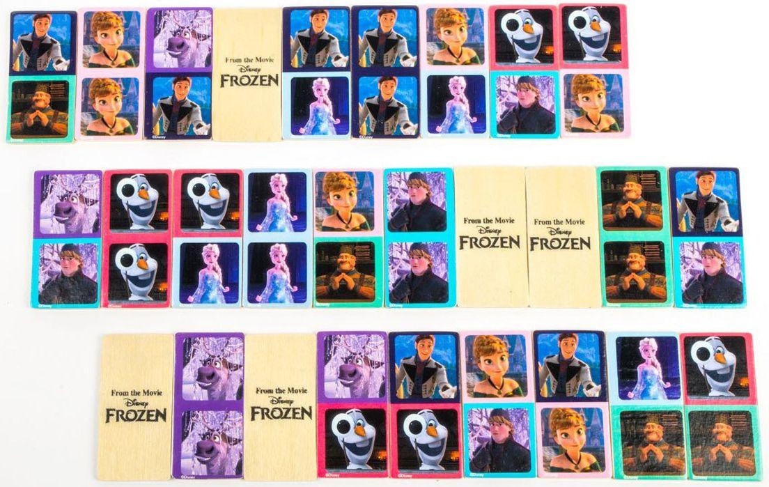 Детска игра Disney Frozen - Картинно домино, 28 части - 2