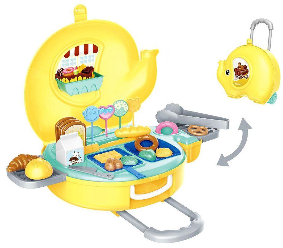 Игрален комплект Bowa - Пекарна Bakery в куфарче-слонче 32 части - 2