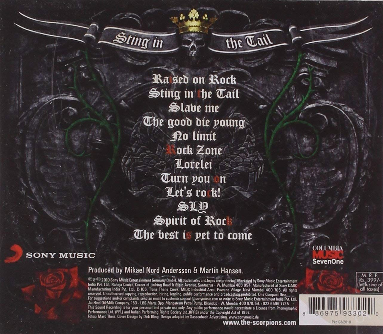 Scorpions - Sting in the Tail (CD) - 2