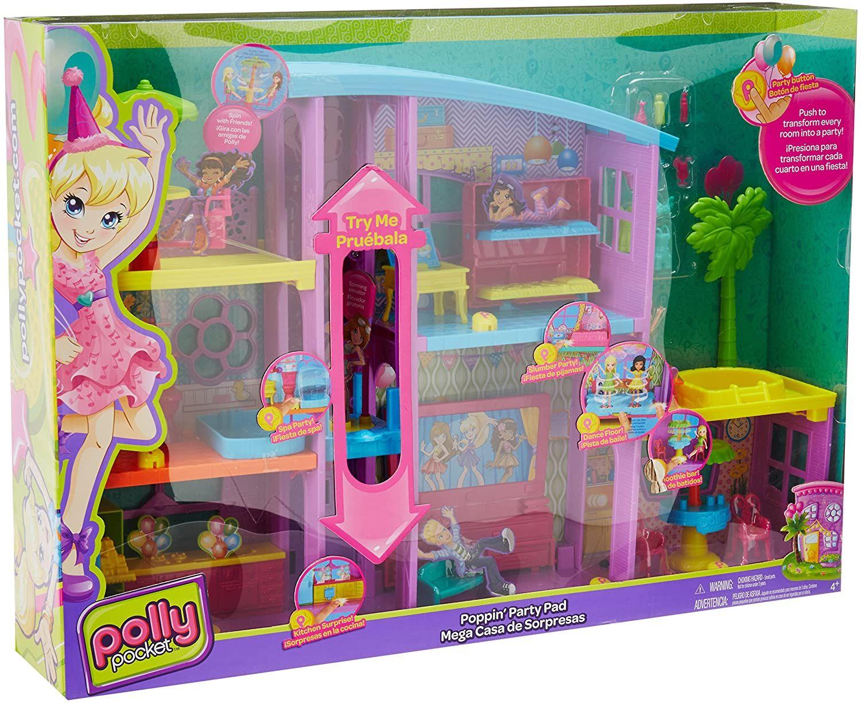 Игрален комплект Mattel Polly Pocket - Парти къща - 1
