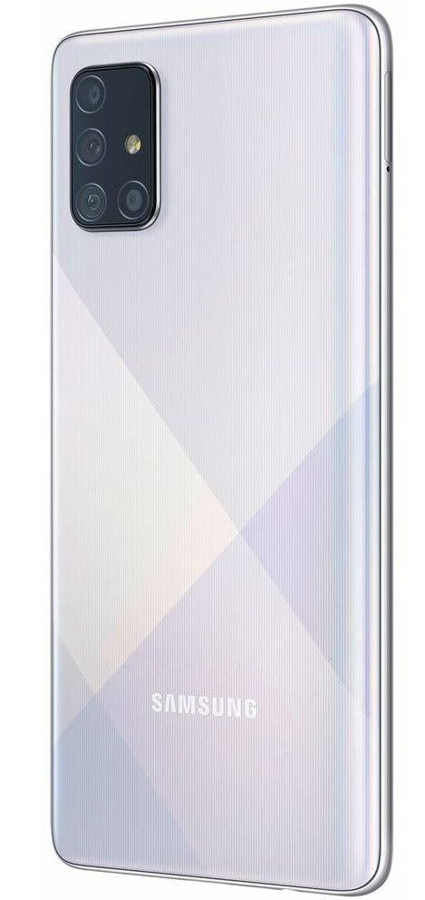 "Смартфон Samsung Galaxy A71 - 6.7"", 128GB, сребрист - 4"