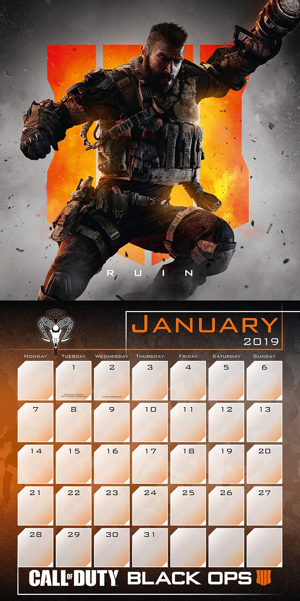 Стенен Календар Danilo 2019 - Call of Duty - 2