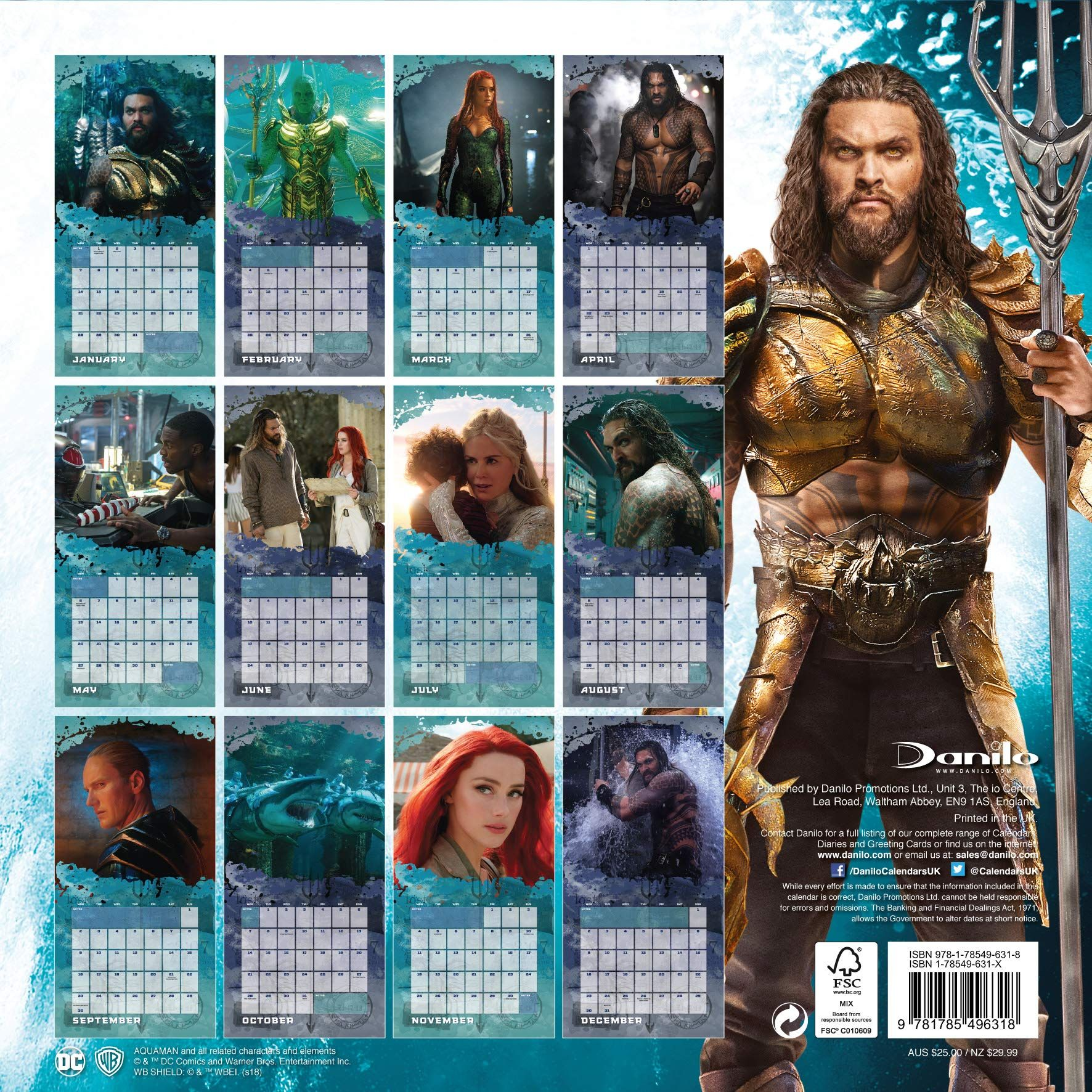 Стенен Календар Danilo 2019 - Justice League: Aquaman - 4