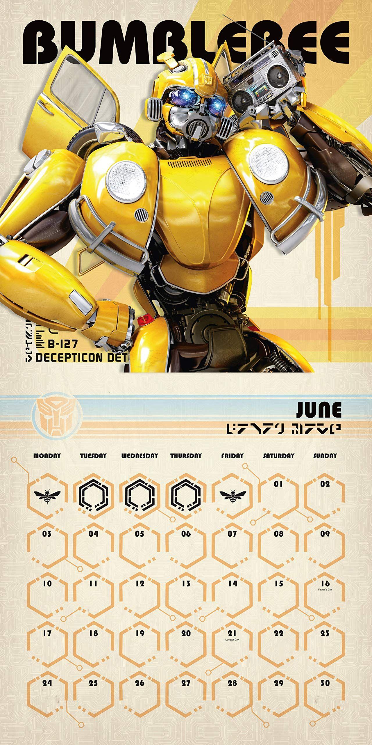 Стенен Календар Danilo 2019 - Transformers Bumblebee - 2