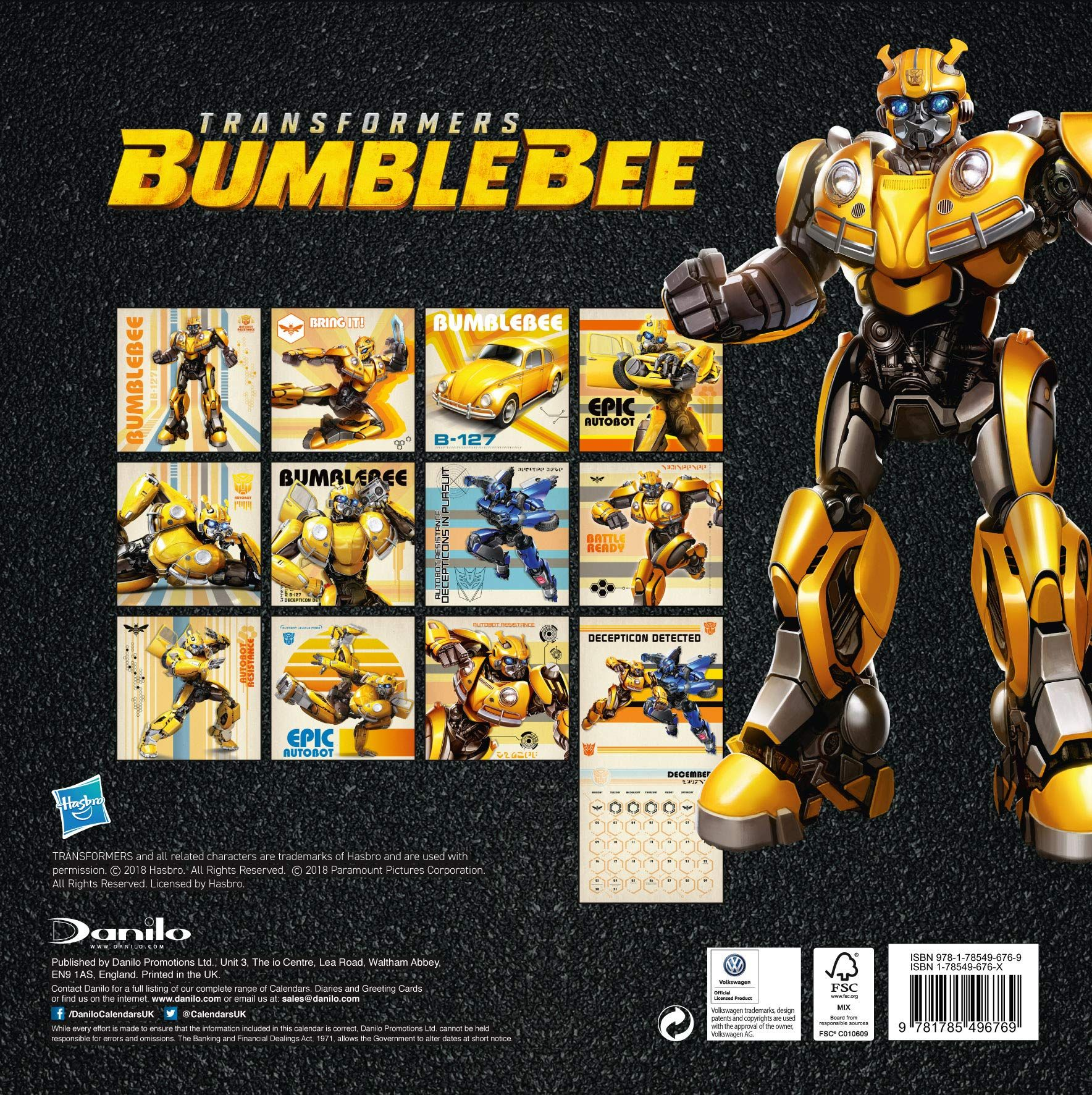 Стенен Календар Danilo 2019 - Transformers Bumblebee - 4