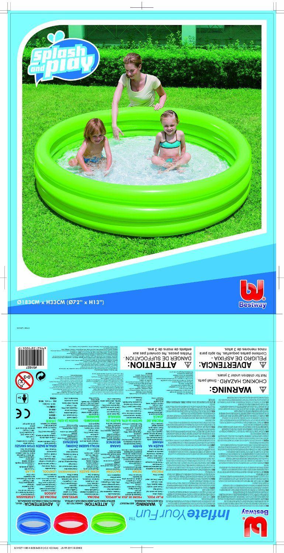 Надуваем басейн с 3 ринга Bestway - 3