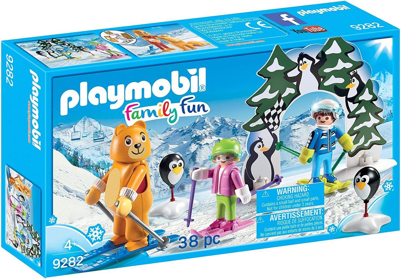 Комплект фигурки Playmobil - Ски урок - 1