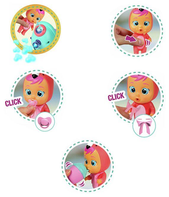 Комплект IMC Toys Cry Babies Magic Tears - Плачеща кукла Фенси с количка - 6