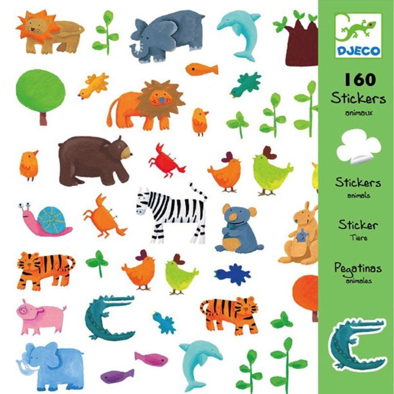 Стикери Djeco - Животни, 160 броя - 1