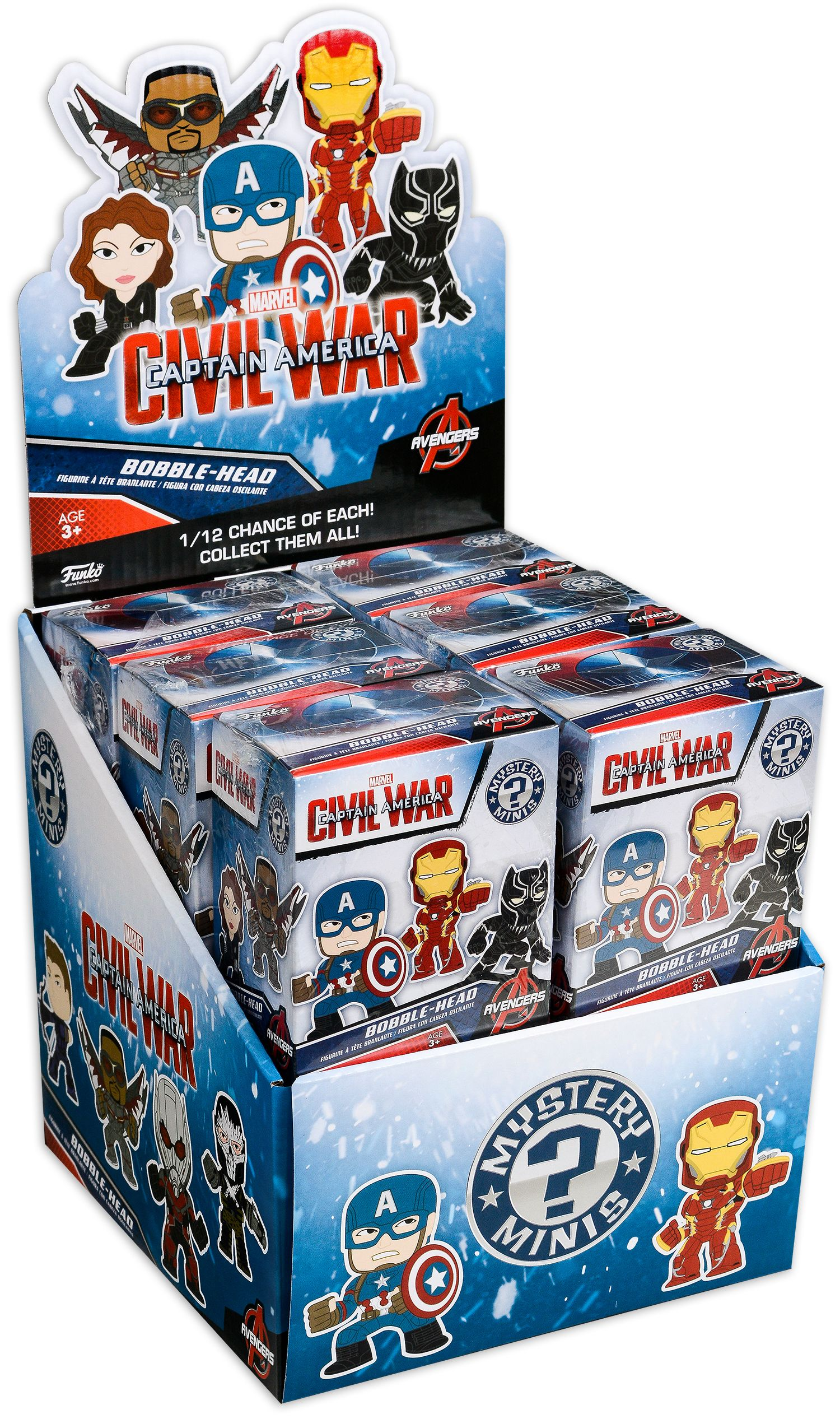 Мини Фигура Funko: Cap America 3: Civil War - Mystery Minis Blind Box - 3