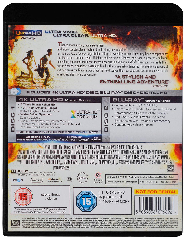 Maze Runner: Scorch Trials 4K (Blu-Ray) - 2