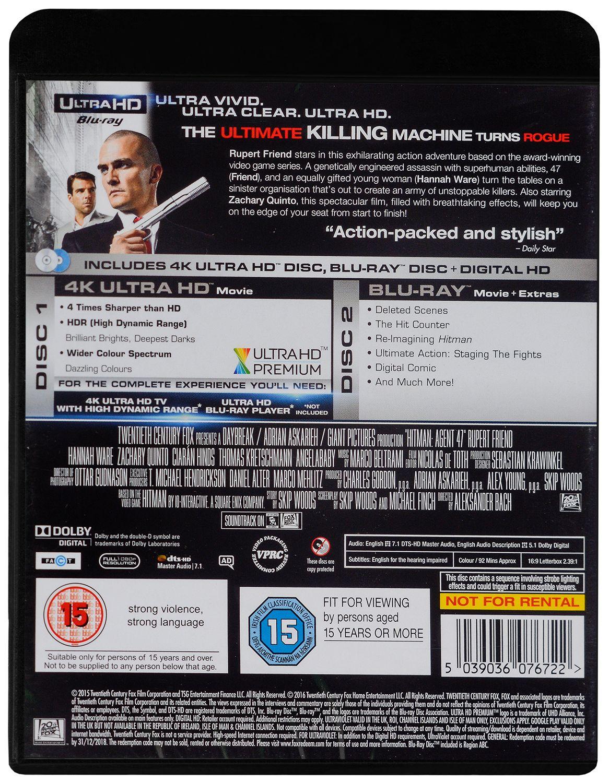 Hitman Agent 47 4K (Blu Ray) - 2