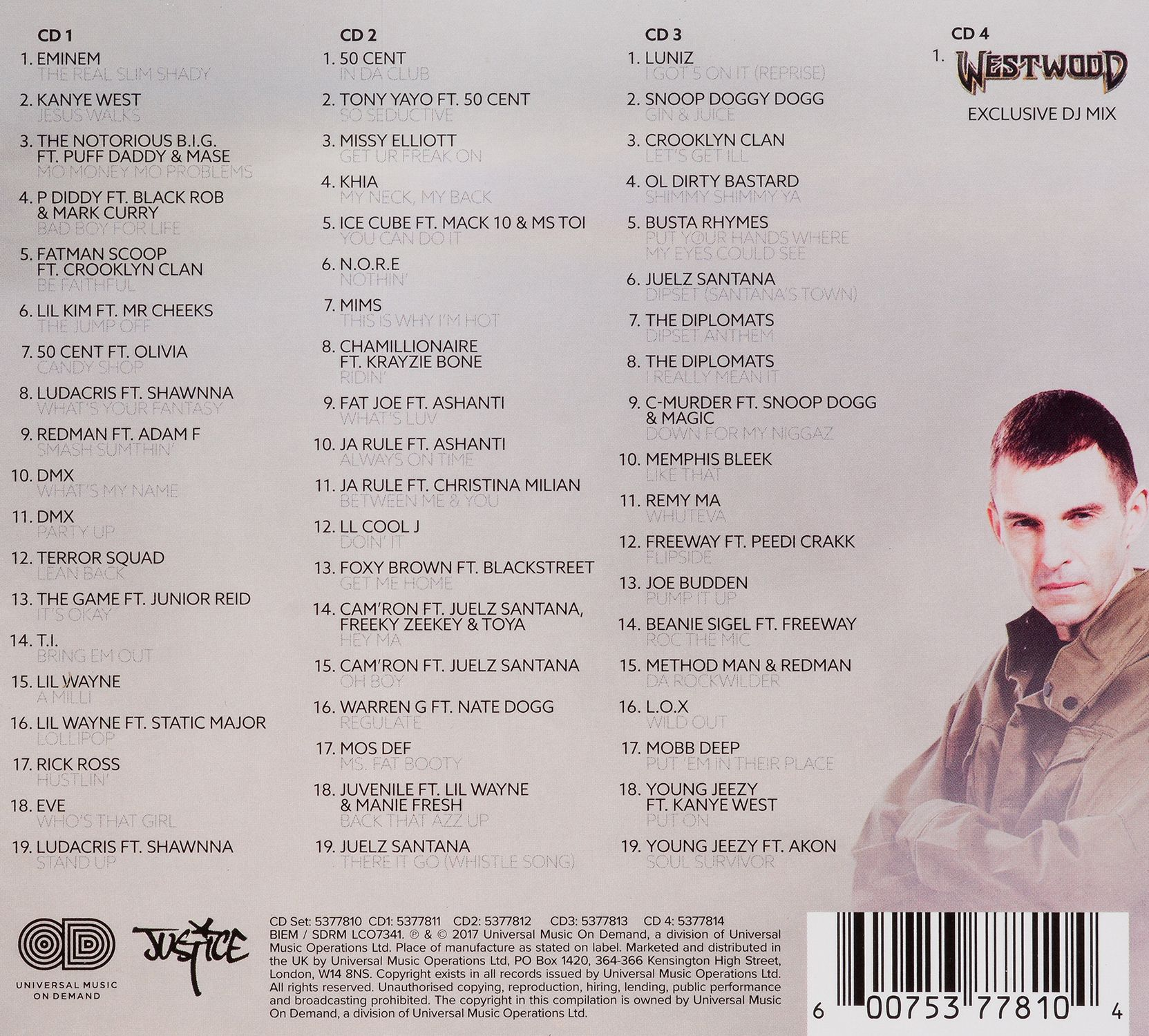 Various Artists - Westwood Hip Hop Club Bangers (CD) - 3