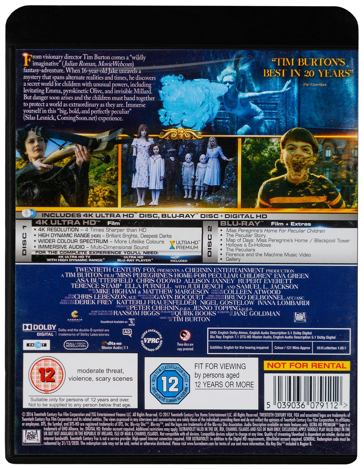 Miss Peregrine's Home For Peculiar Children 4K (Blu Ray) - 2