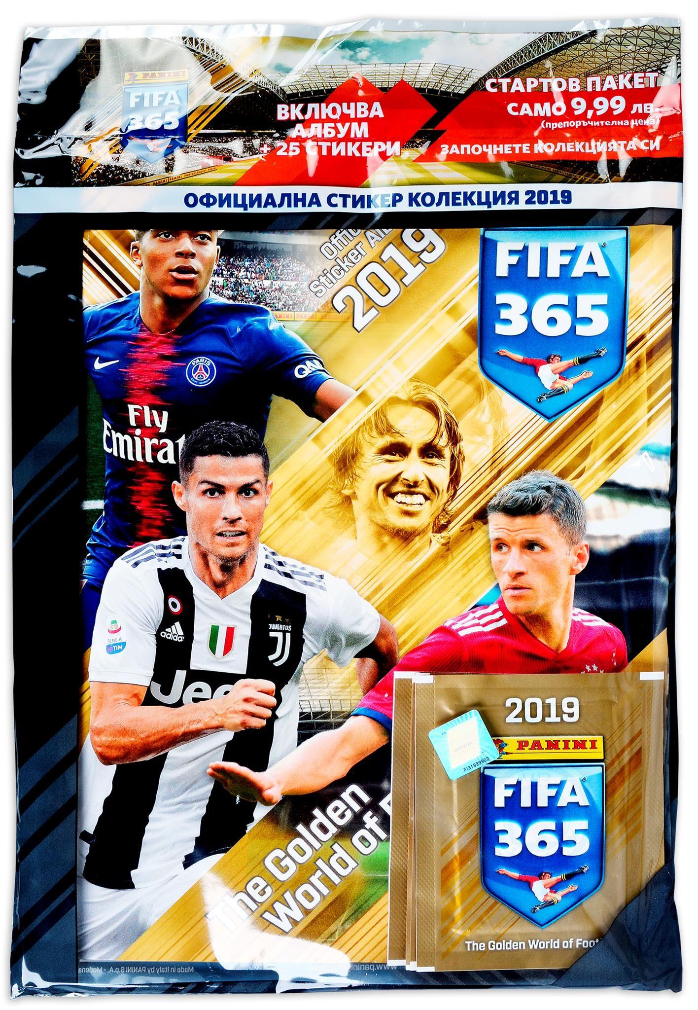 Стартов Пакет - Албум с 5 пакетчета стикери Panini FIFA 365 2019 - 1