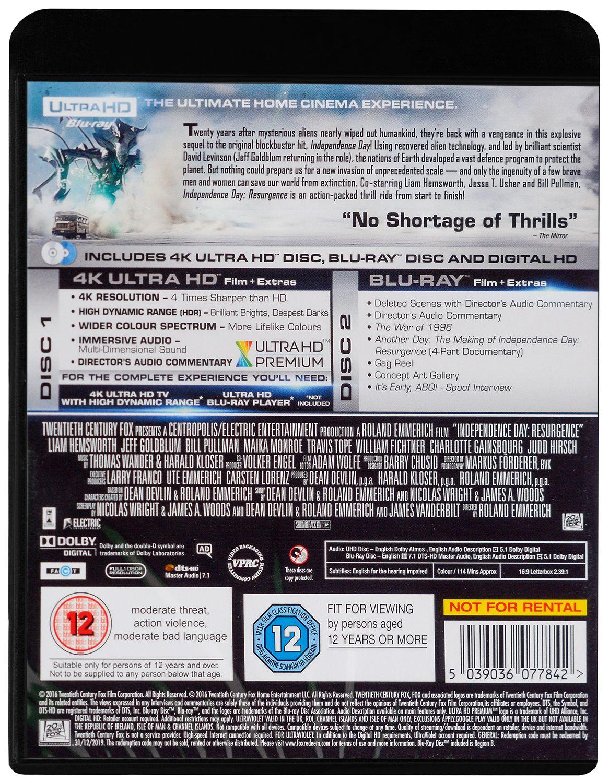 Independence Day: Resurgence 4K (Blu Ray) - 2
