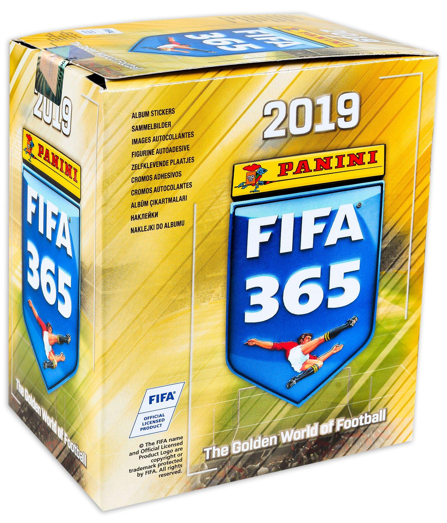 Стикери Panini FIFA 365 2019 - кутия с 50 пакета - 250 бр. стикери - 1