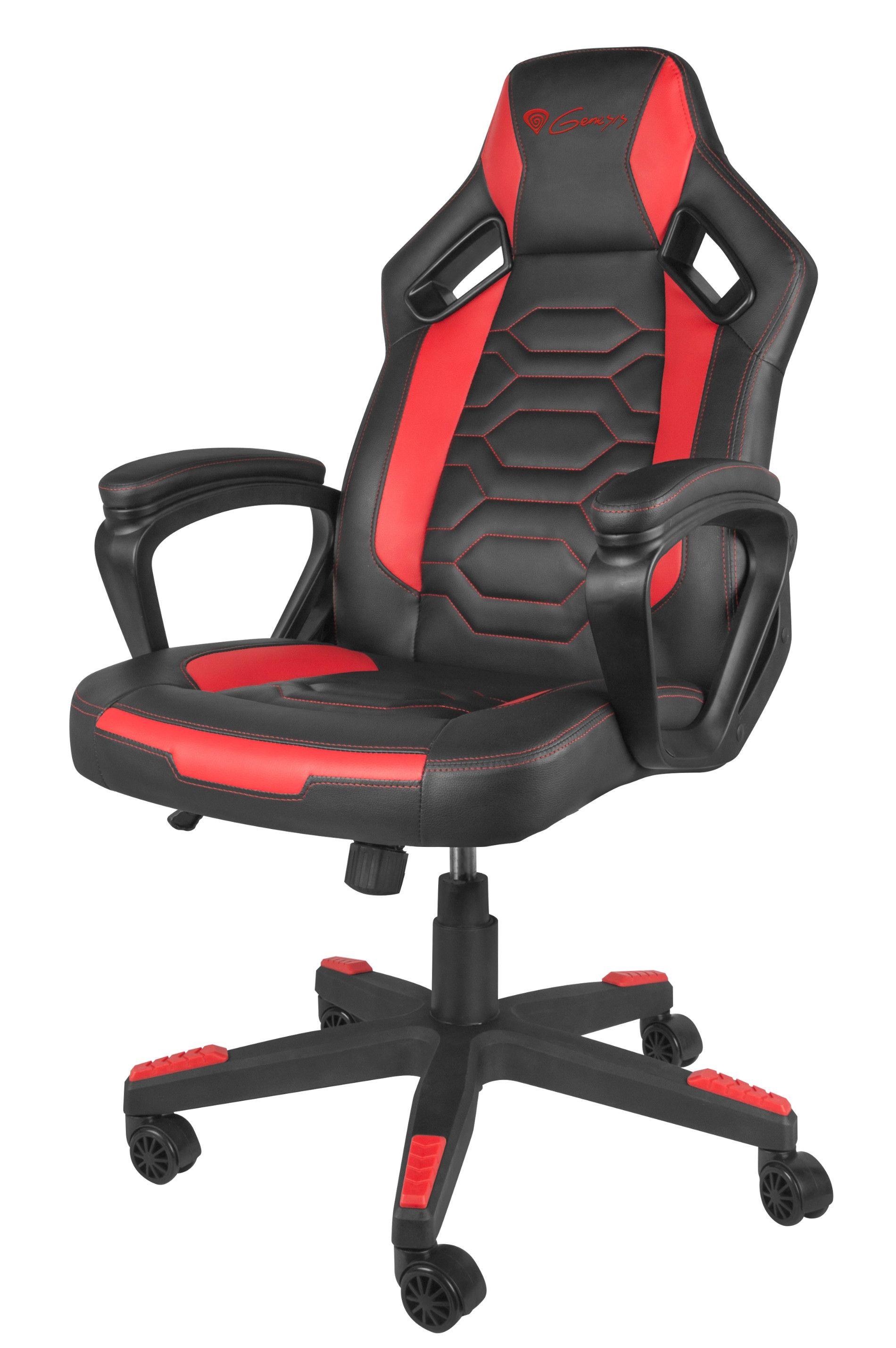 Гейминг стол Genesis - Nitro 370, червен/черен - 1