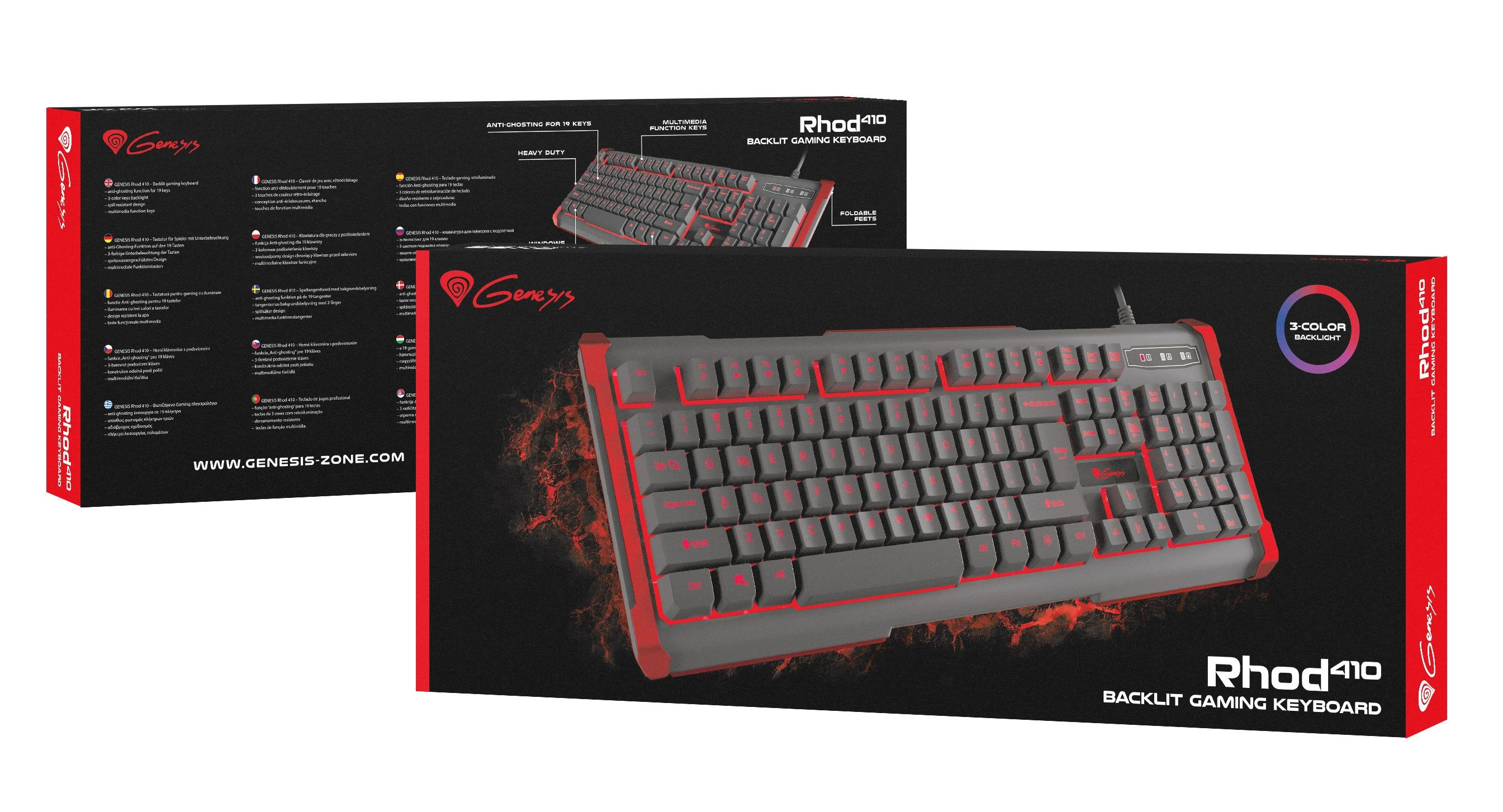 Гейминг клавиатура Genesis - Rhod 410, Us Layout - 4