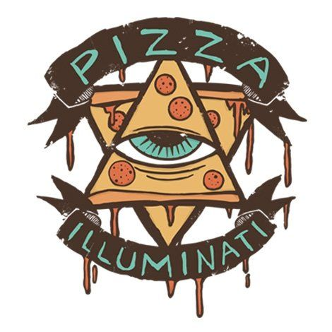 Тениска RockaCoca Pizza Iluminati, бяла, размер XL - 2