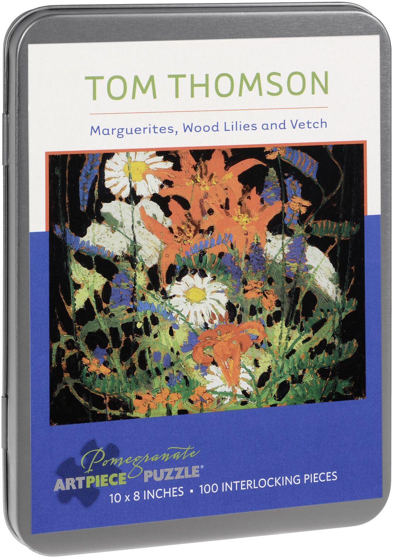 Пъзел Pomegranate от 100 части - Маргаритки, Козлец и Фий, Том Томсън - 1