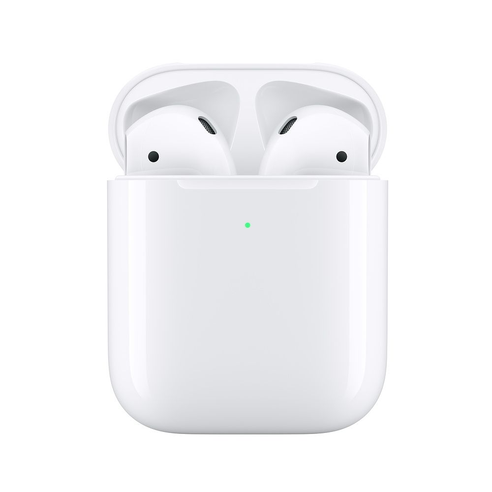 Слушалки Apple AirPods2 with Wireless Charging Case - бели - 3