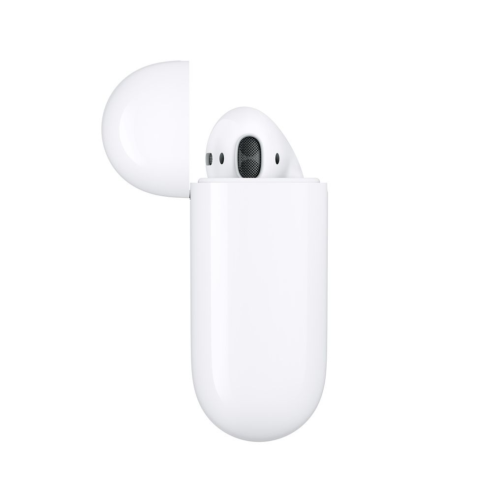 Слушалки Apple AirPods2 with Wireless Charging Case - бели - 2