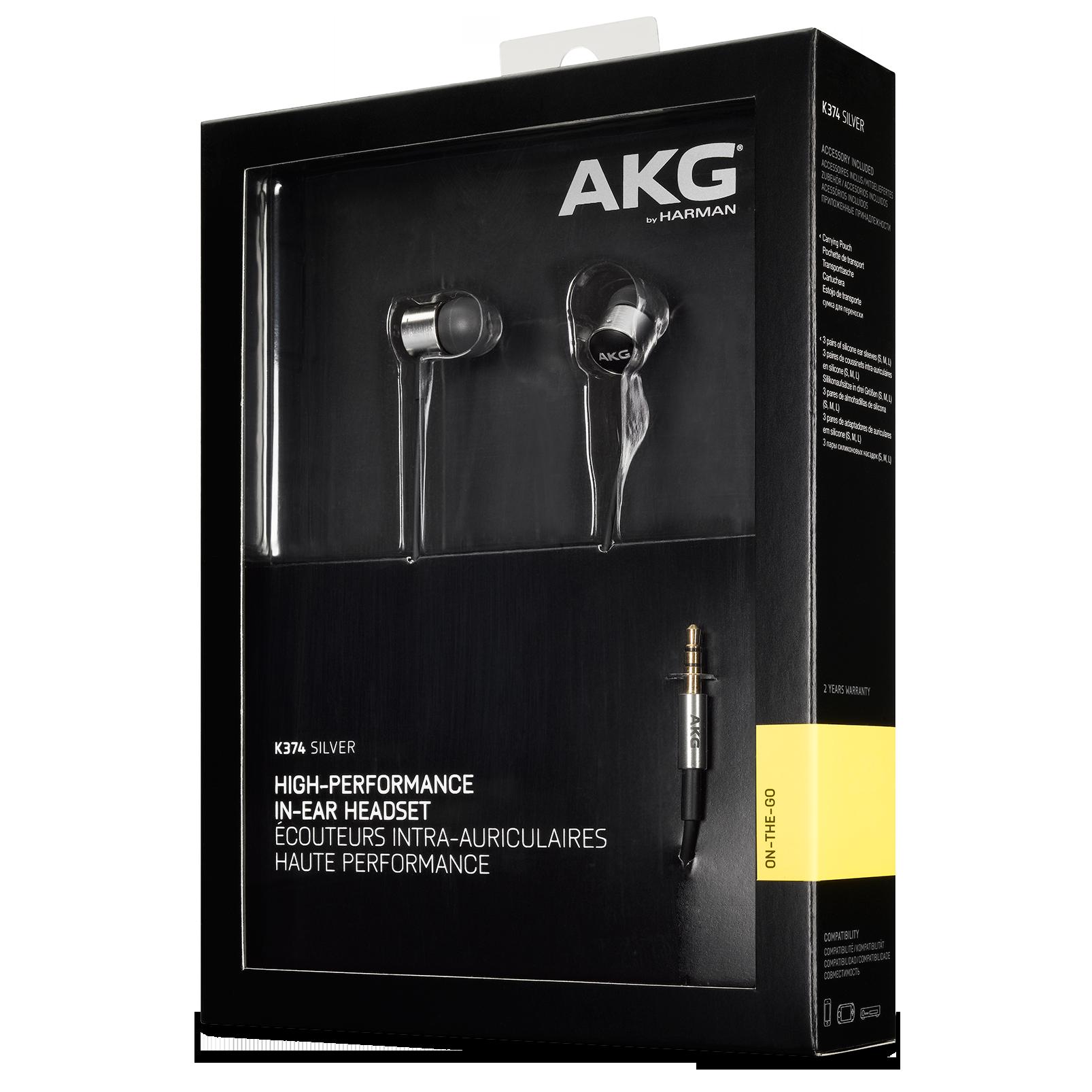 Слушалки AKG K374 - сребристи/черни - 4