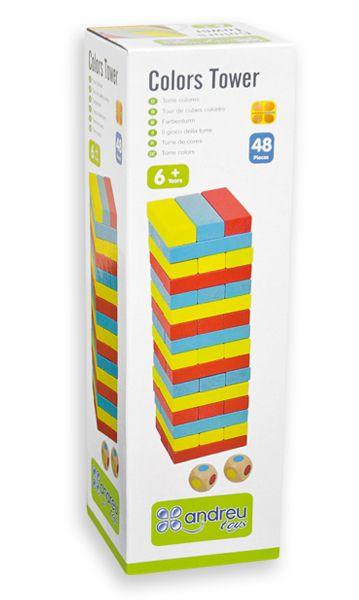 Балансна кула Дженга със зарчета Andreu toys - 3
