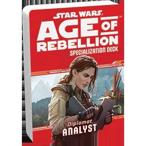 Допълнение за ролева игра Star Wars: Age of Rebellion - Analyst Specialization Deck - 1