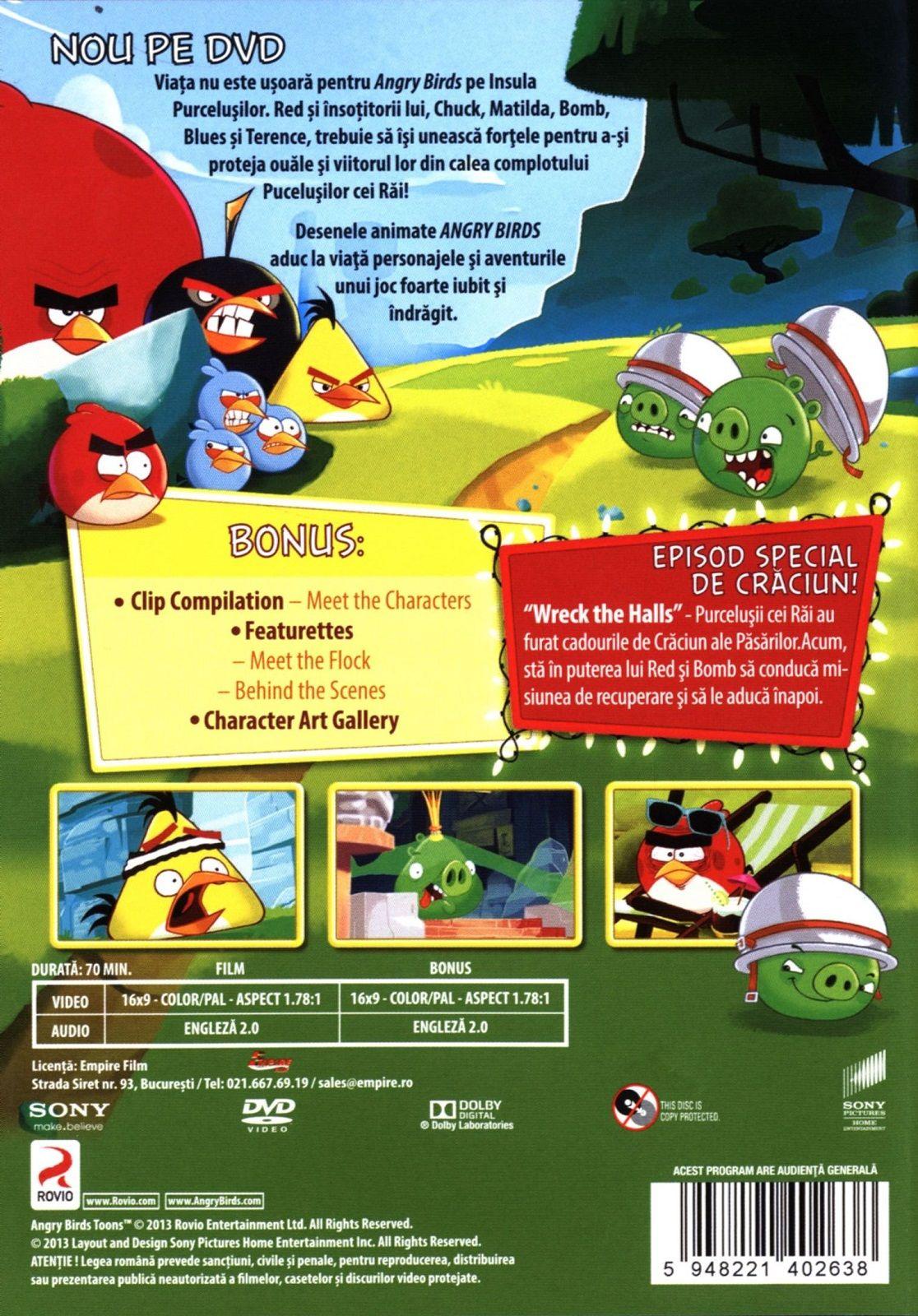 Angry Birds Toons - Сезон 1 - част 1 (DVD) - 2