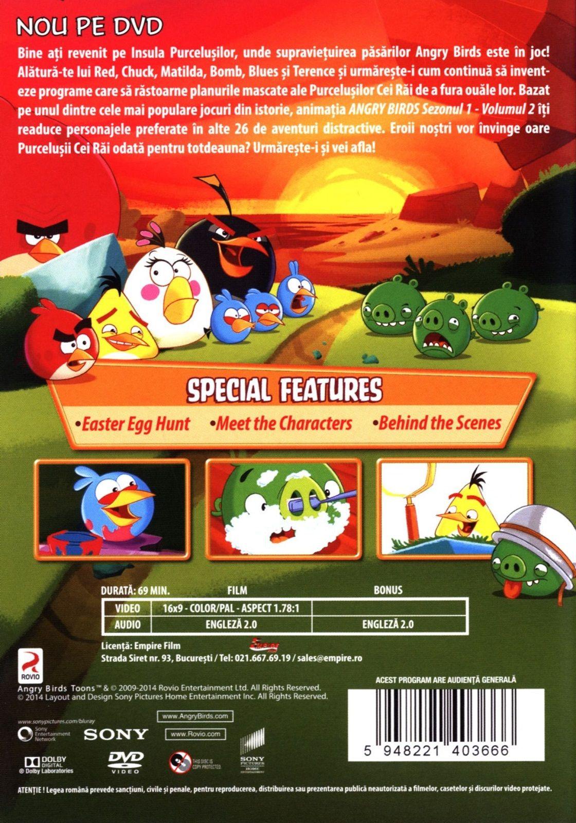 Angry Birds Toons - Сезон 1 - част 2 (DVD) - 2