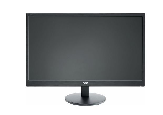 "AOC E2770SH, 27"" Wide TN LED, 1 ms, 20М:1 DCR, 300 cd/m2, 1920x1080 FullHD, D-Sub, DVI, HDMI, Speakers, Black - 1"