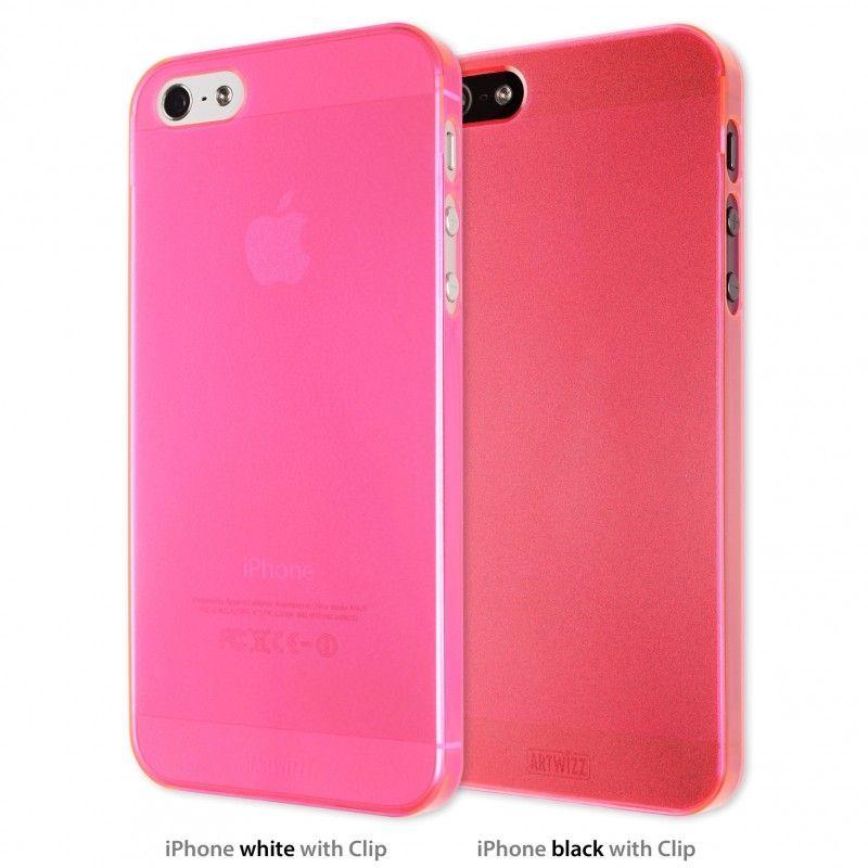 Калъф Artwizz SeeJacket Clip Neon за iPhone 5, Iphone 5s -  розов-прозрачен - 1