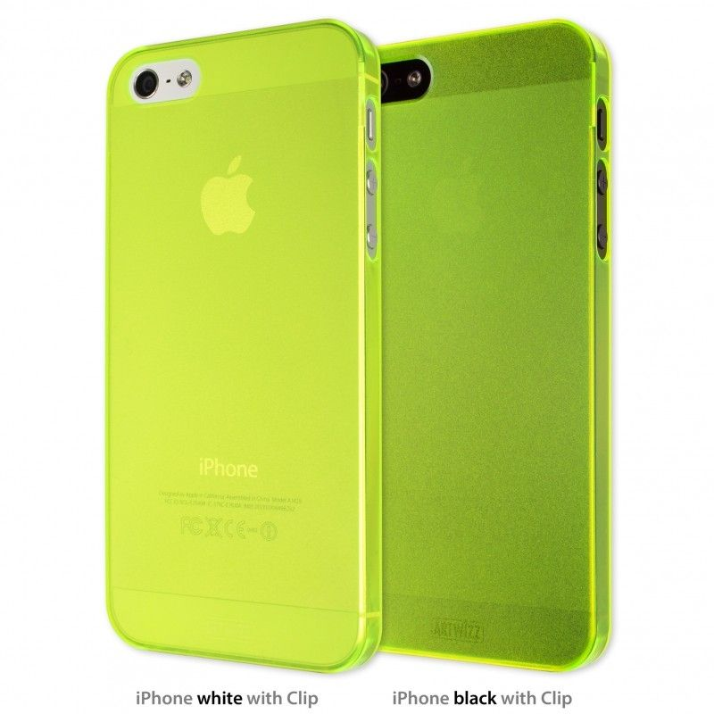 Калъф Artwizz SeeJacket Clip Neon за iPhone 5, Iphone 5s -  жълт - 1