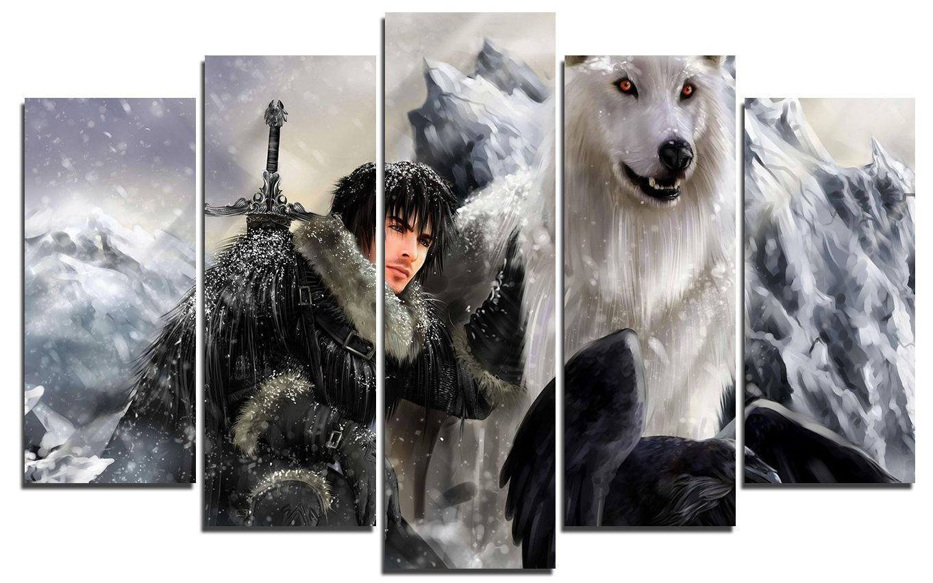 Арт панел - Game of Thrones - Jon & Ghost - 1