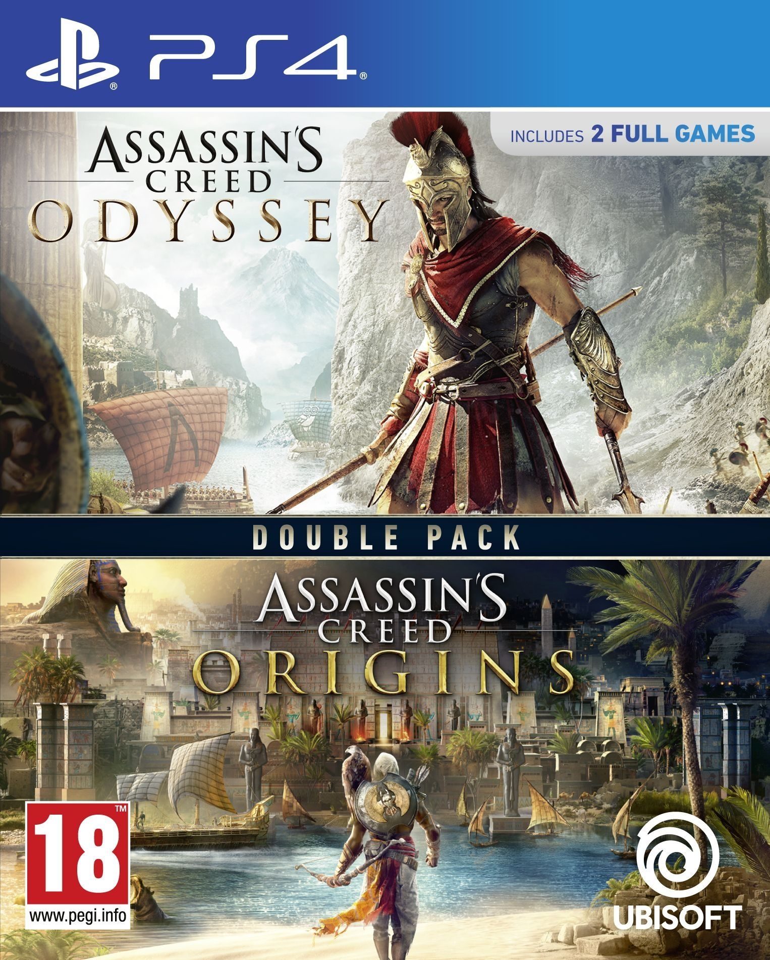 Assassin's Creed Odyssey + Assassin's Creed Origins (PS4) - 1