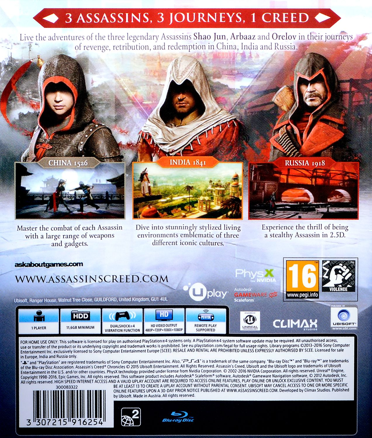 Assassin's Creed Chronicles Pack (PS4) - 3