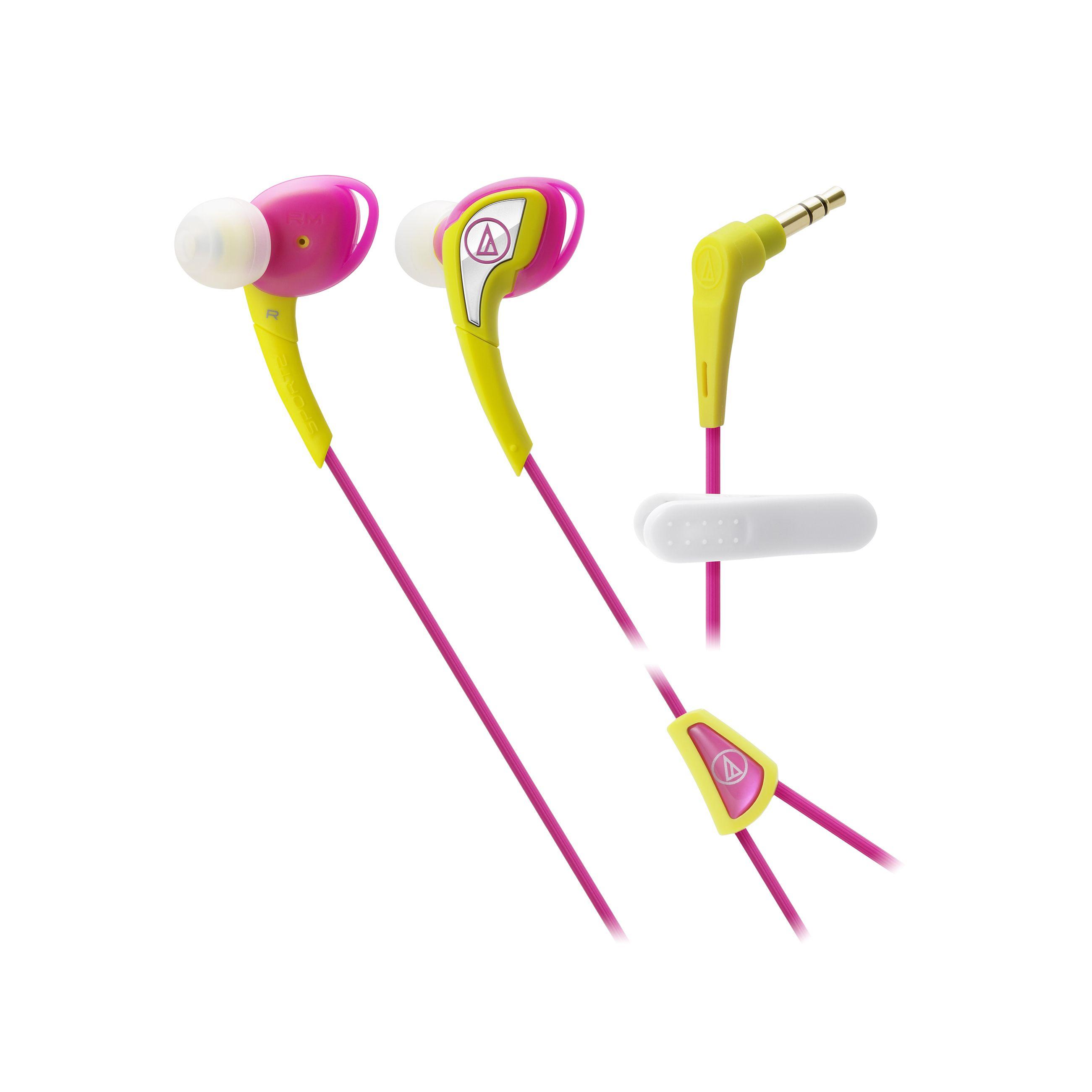 Слушалки Audio-Technica ATH-SPORT2YP - розови - 1