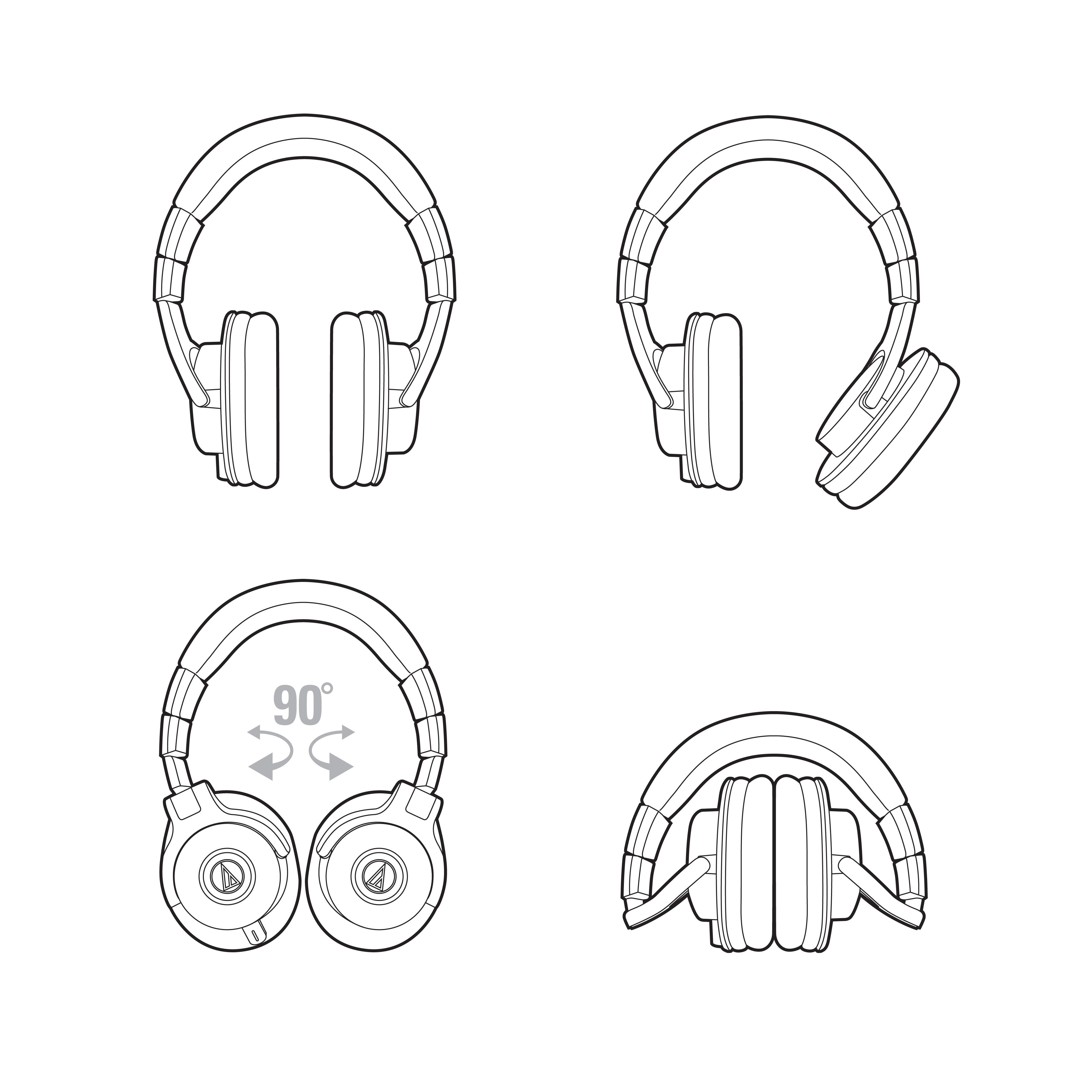 Слушалки Audio-Technica ATH-M40x - черни - 6