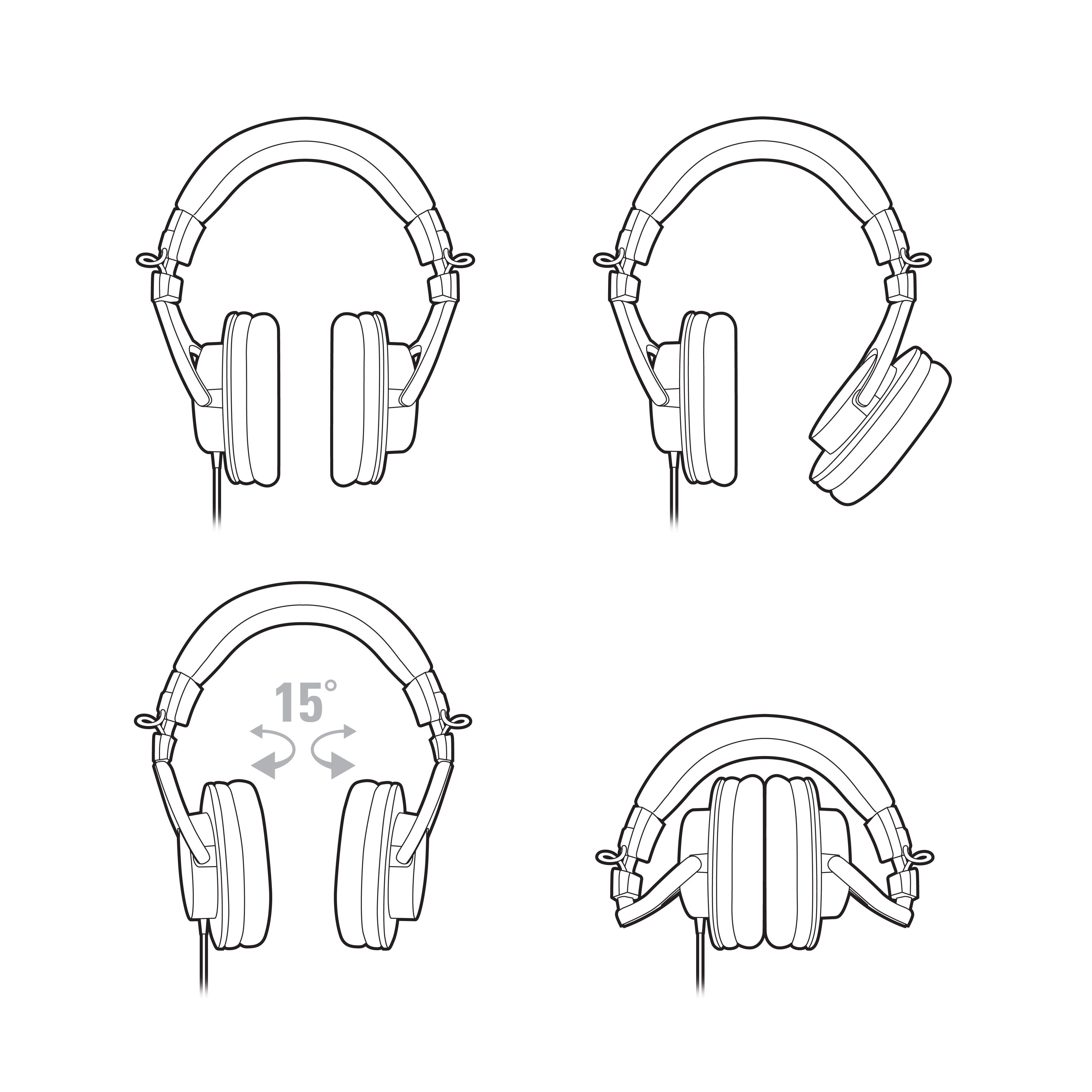 Слушалки Audio-Technica ATH-M30x - черни - 5