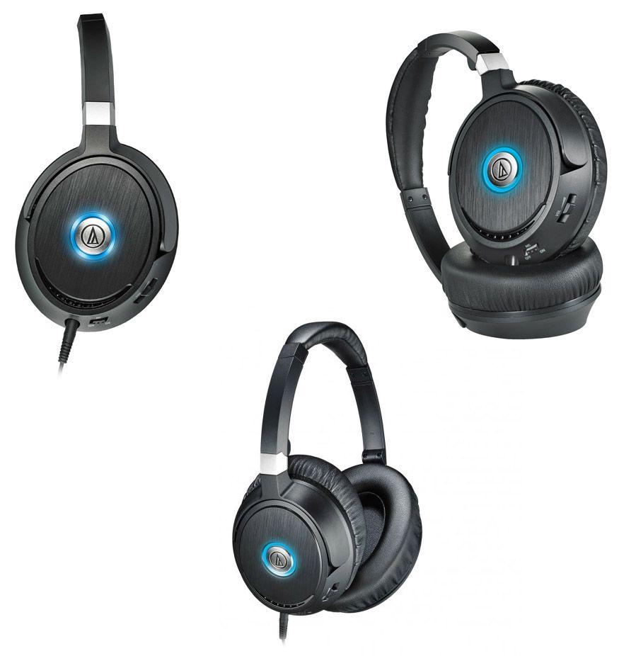 Слушалки Audio-Technica ATH-ANC70 - черни - 2