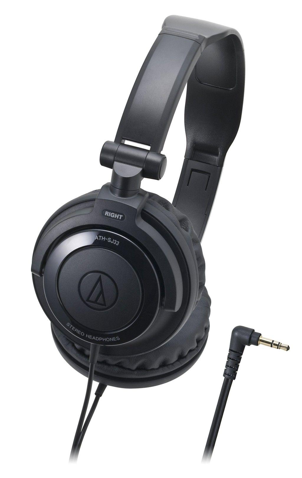 Слушалки Audio-Technica ATH-SJ33 - черни - 1