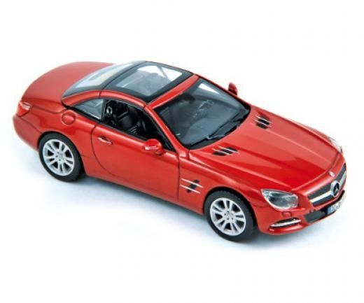 Авто-модел Mercedes 500 SL 2012 metallic red - 1