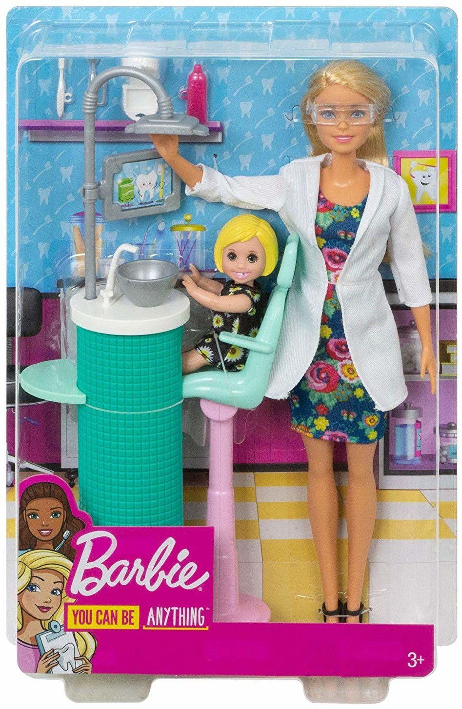Игрален комплект Mattel Barbie - Зъболекарка - 6